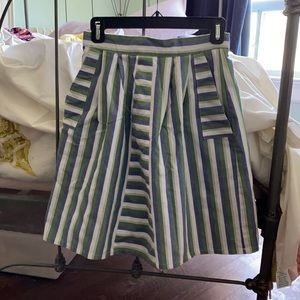 Birds of North America high waisted striped skirt